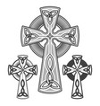 celtic cross set vector image vector image
