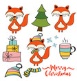 christmas items collection vector image vector image