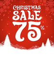 Christmas Sale 75 Percent vector image vector image