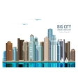 City town logo design template vector image vector image