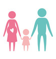 color silhouette set pictogram parents with mother vector image vector image