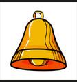 color sketch bell vector image vector image