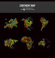 Continent maps abstract background