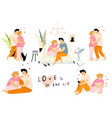 couple in love man and woman hugging at home vector image