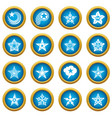 decorative stars icons set simple style vector image