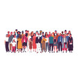 diverse multiethnic or multinational group vector image vector image