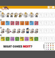 educational pattern game for children with comic vector image vector image