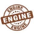 engine brown grunge stamp vector image vector image