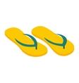 Flip flops isometric 3d icon vector image