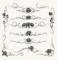 Flourish roses decorative ornaments