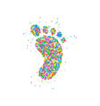foot icon circles vector image vector image
