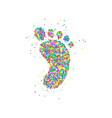 Foot icon circles vector image