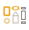 frame gallery set collection rectangular vector image vector image