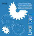 gears with on the blue background infographic vector image vector image