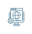 global seo line icon concept global seo flat vector image vector image