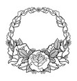 graphic floral wreath vector image vector image
