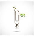 Green office design vector image vector image