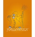 halloween backgrounds with ghost vector image