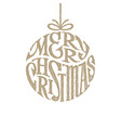 hand drawn phrase merry christmas inscribed in a vector image