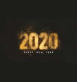 happy new year 2020 dark background with gold net vector image