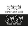happy new year 2020 text typography design vector image vector image