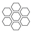 honeycomb thin line icon bee and honey hexagon vector image vector image