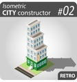 Isometric city constructor - 02 vector image vector image