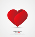 Love image origami effect vector image vector image