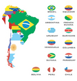 map of south america vector image vector image
