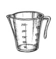 measuring cup for baking and cooking ink vector image vector image