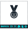 Medal icon flat vector image vector image