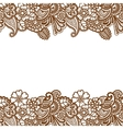 Mehndi horizontal backrtound vector image vector image