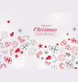 merry christmas festival card with different vector image vector image