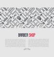 monochrome barber shop concept vector image vector image