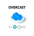 Overcast icon in different style vector image
