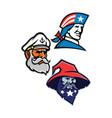 patriot seadog and warlock mascot collection vector image vector image