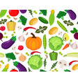 pattern of fruits and vegetables vector image vector image