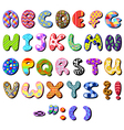 patterned alphabet vector image