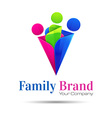 People connect logo communication family template vector image vector image