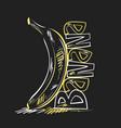 poster for banana vector image