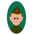 red army soldier on white background vector image