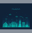 rijeka skyline croatia city linear style vector image