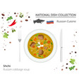 russia cuisine european national dish collection vector image vector image
