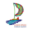 Sail Ship Logo4 vector image vector image
