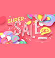 sale banner template design super sale for online vector image vector image