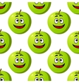 Seamless pattern of green apples fruits vector image vector image