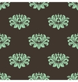 Seamless stylized peony pattern vector image vector image