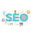 seo search engine optimization vector image vector image