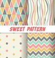set 4 sweet patterns vector image vector image