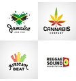 Set of african rasta beat logo designs vector image vector image